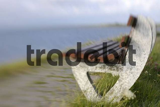 Product picture bank at the water on the North Sea island nordstrand