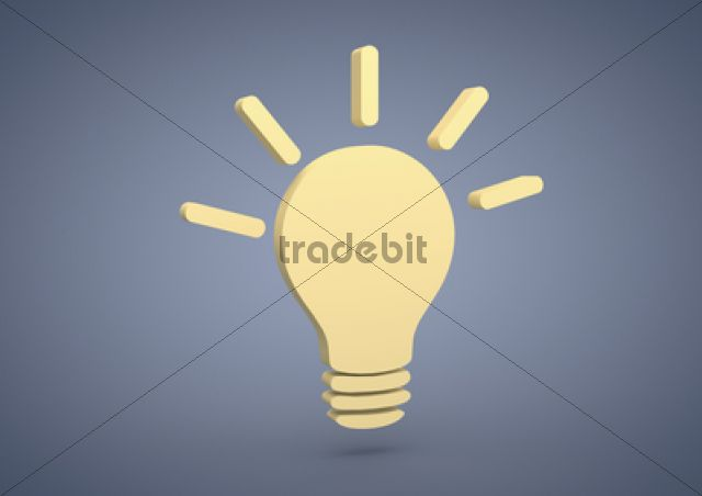 Product picture Light bulb symbol, symbolic image for ideas, inspiration, 3D illustration